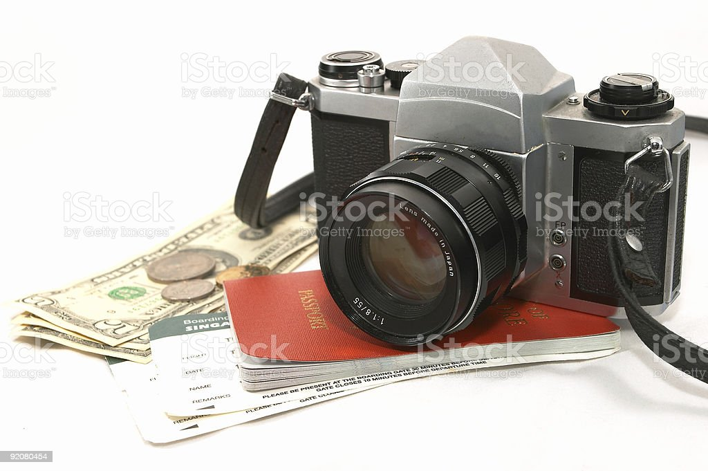 Concept of Seasoned Traveler royalty-free stock photo