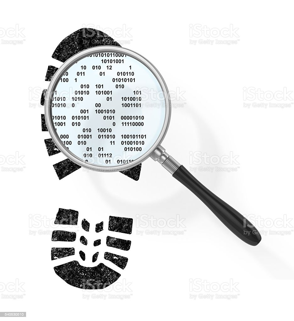 Concept of secure information. stock photo