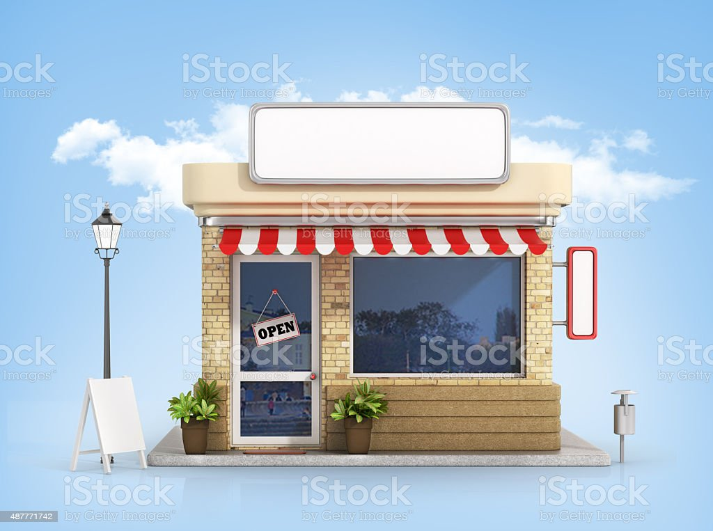 Concept of shop. stock photo