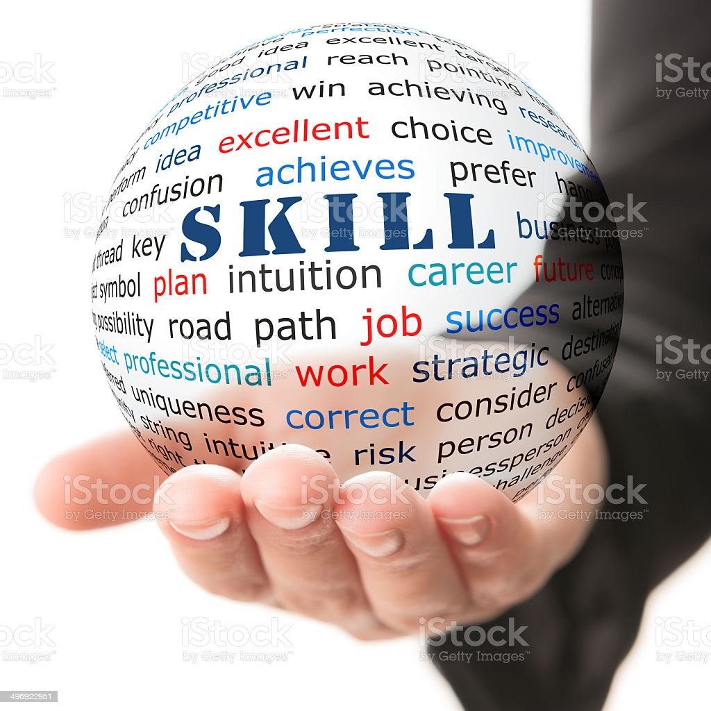 Concept of skill stock photo