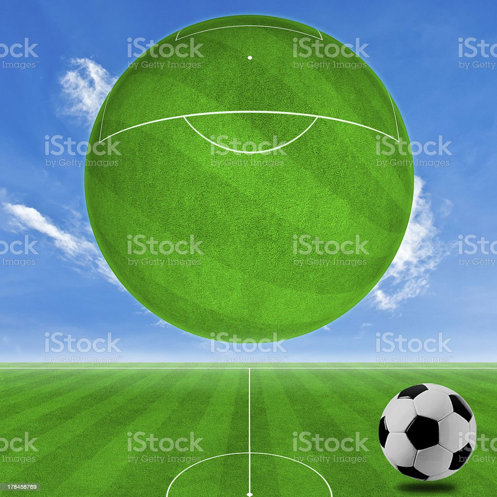 concept of soccer to the background. stock photo