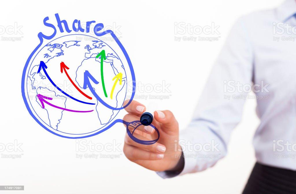 Concept of social media sharing royalty-free stock photo