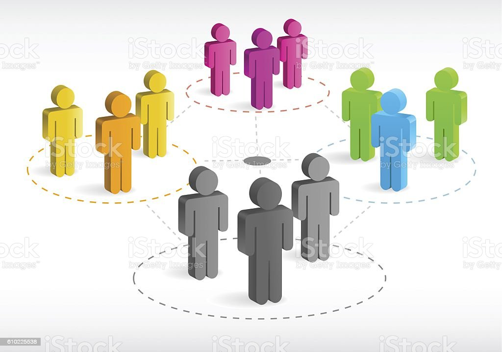concept of social network stock photo