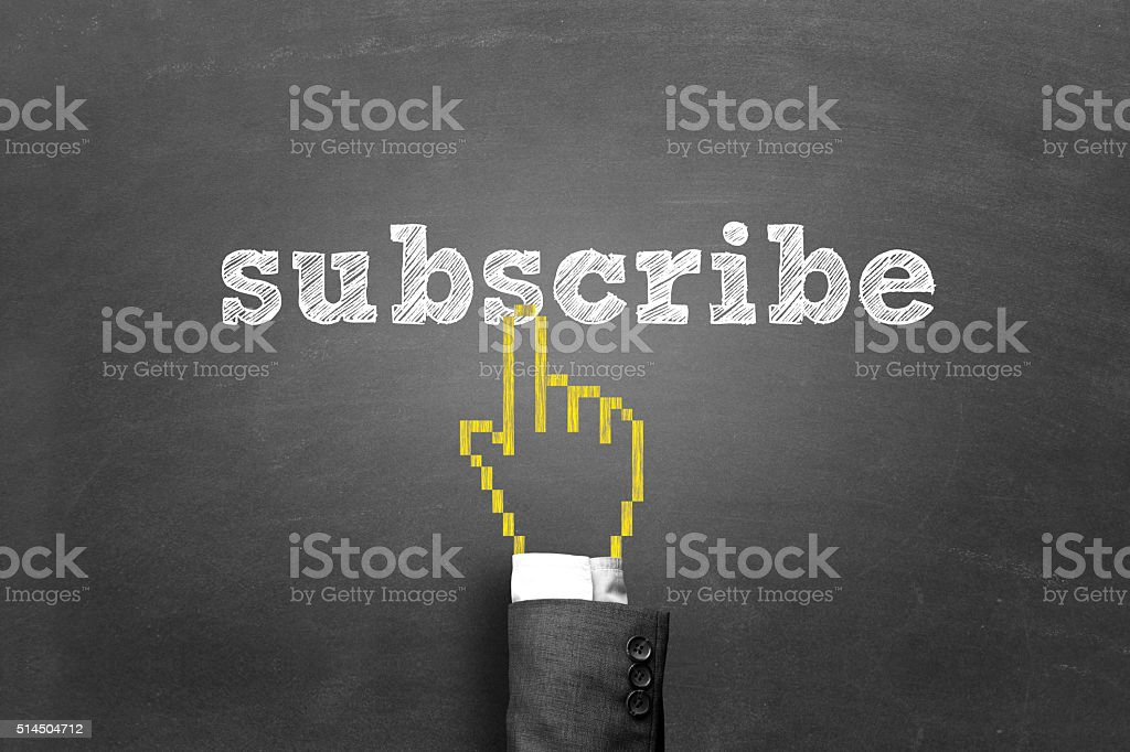 Concept of subscription stock photo