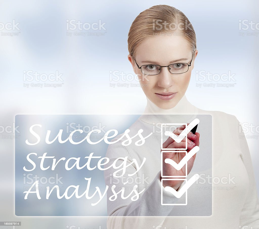 Concept of success and business woman royalty-free stock photo