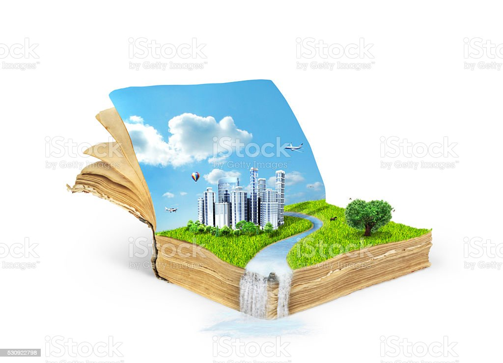 Concept of the acquisition of knowledge. stock photo