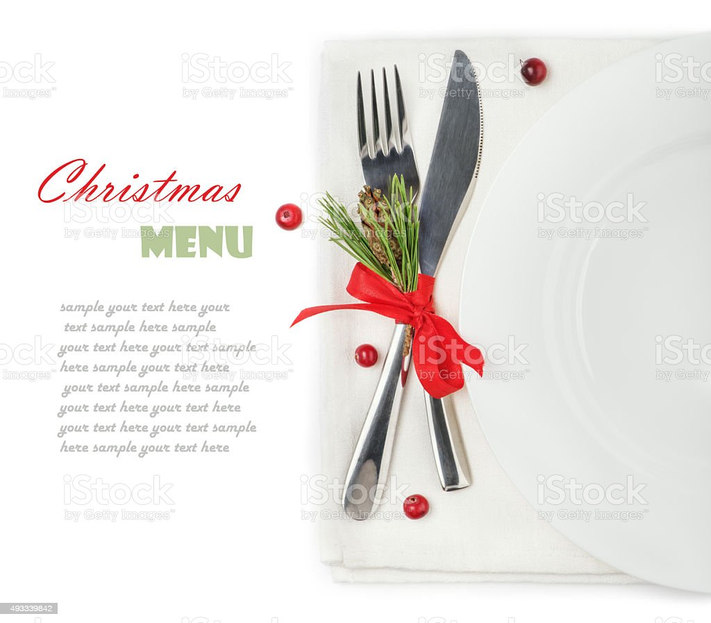 concept of the Christmas menu stock photo