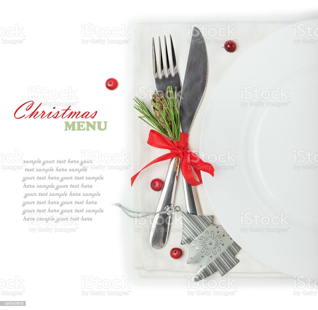 concept of the Christmas menu stock photo