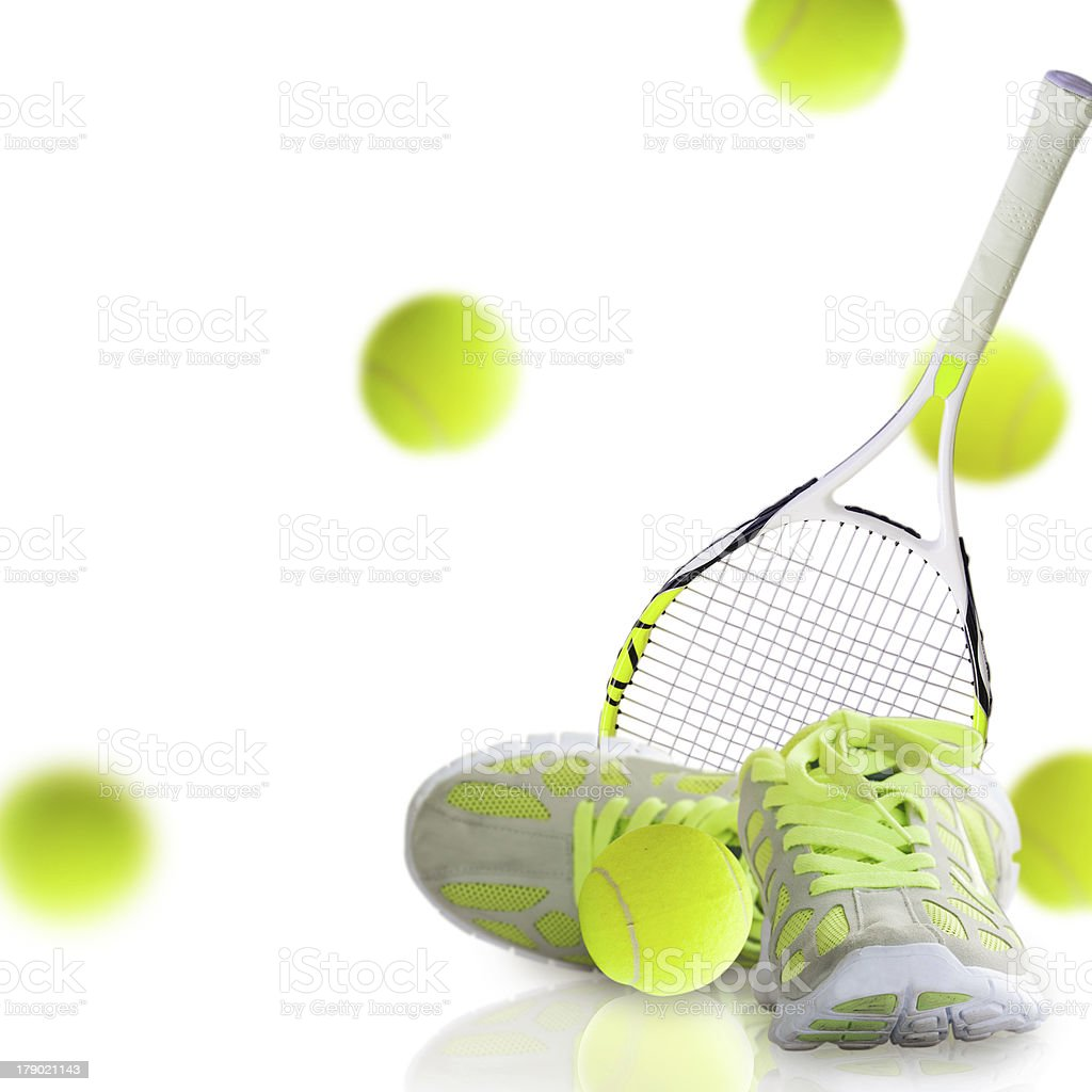 Concept of the tennis stock photo