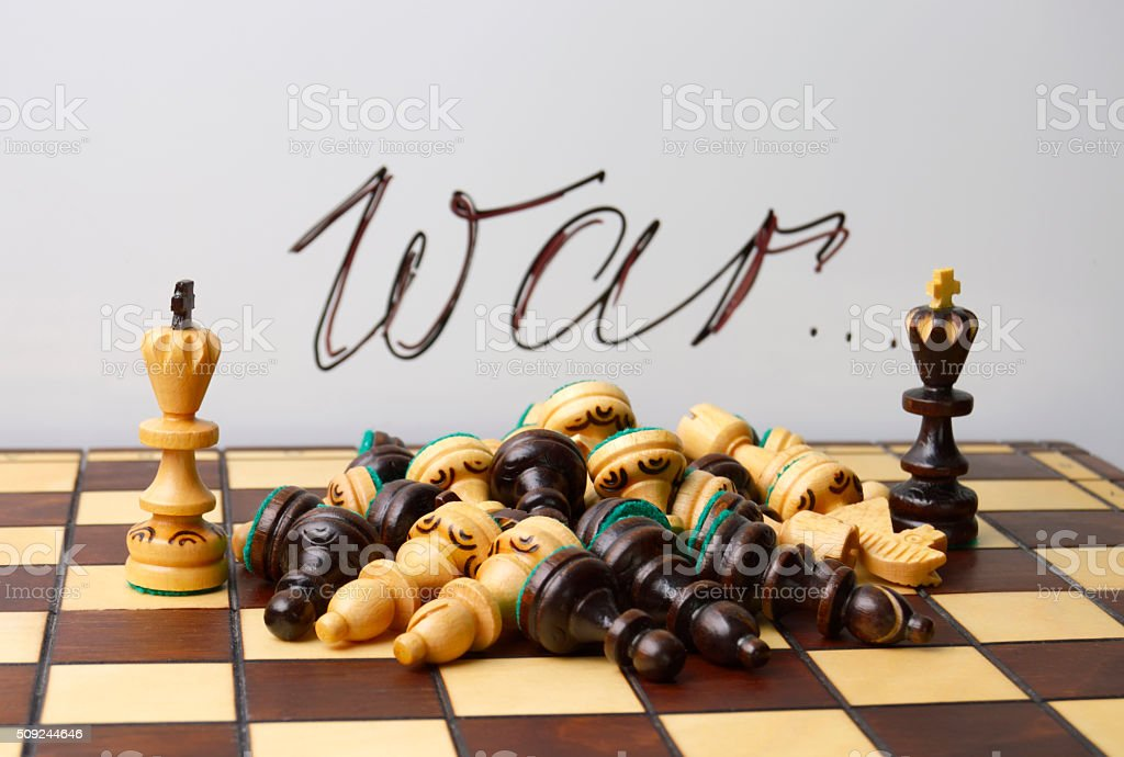 concept of the terrible consequences of war stock photo
