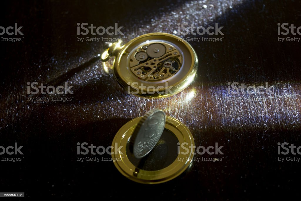 concept of time in business stock photo