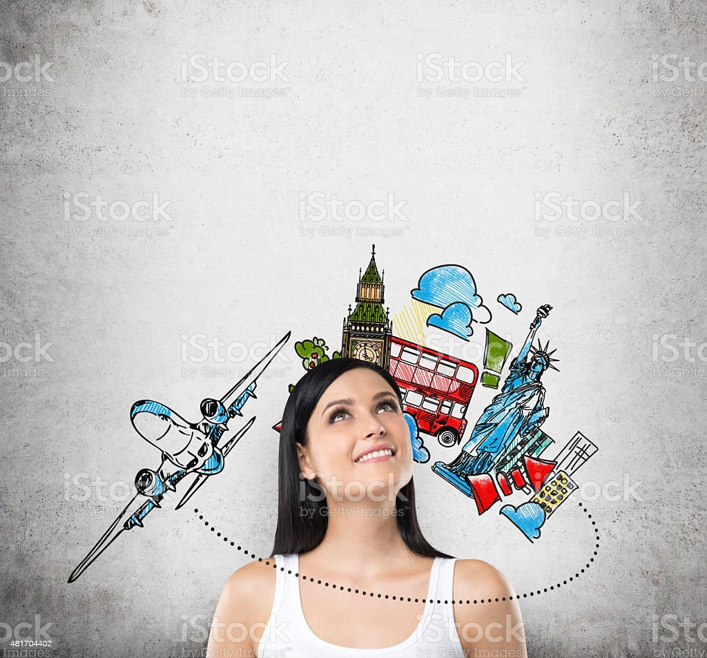 concept of travelling and holidays stock photo