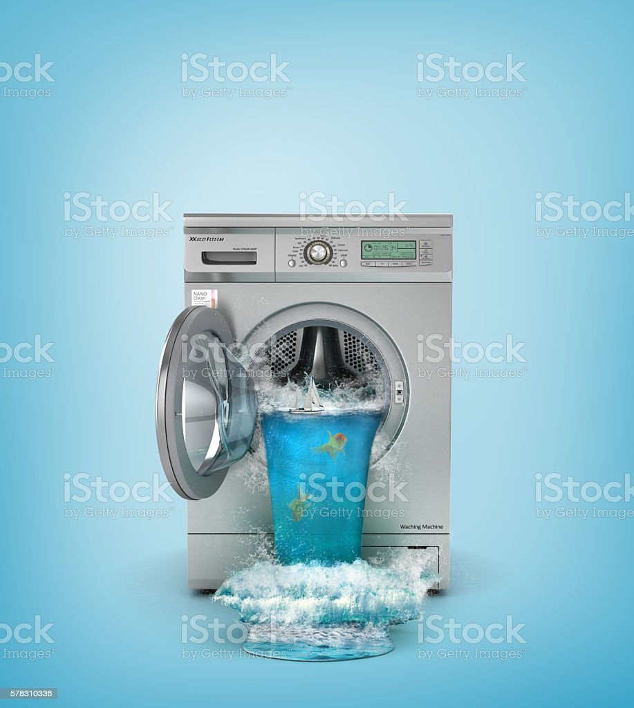Concept of washing. stock photo
