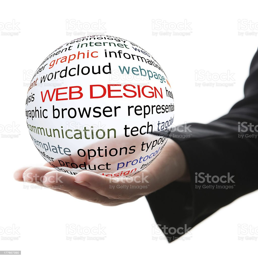 Concept of web design royalty-free stock photo