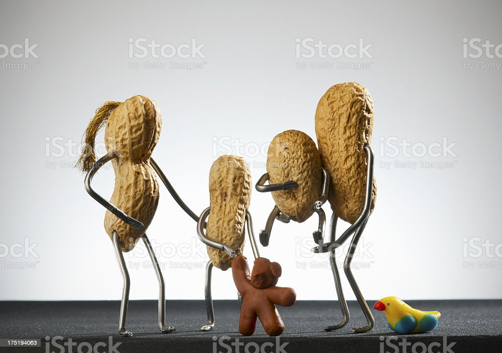 Concept peanut man- Family stock photo