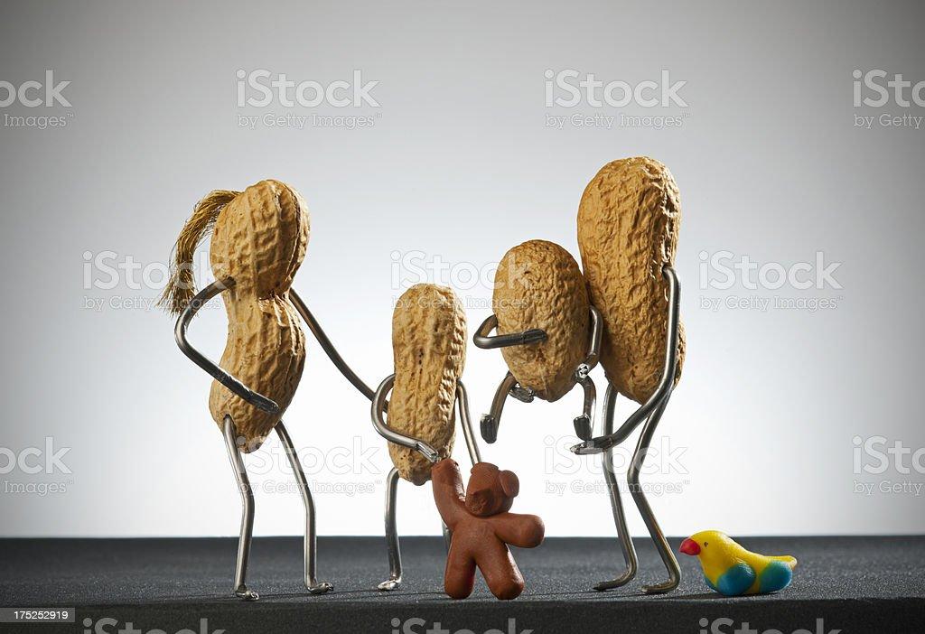 Concept peanut man- Family royalty-free stock photo