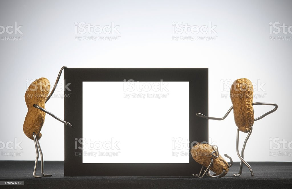 Concept peanutmen- Blank sign stock photo