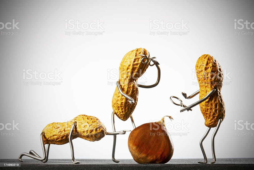 Concept peanutmen- Scientists stock photo