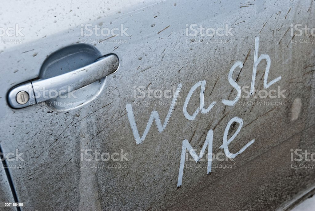 Concept photo of car wash royalty-free stock photo