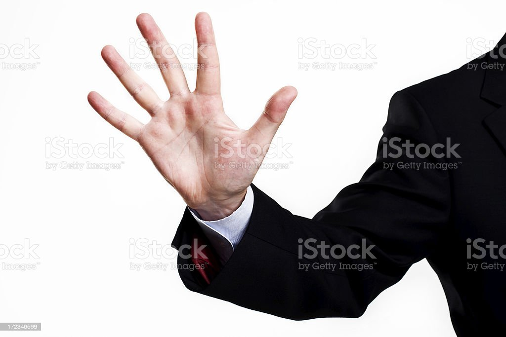 concept photo of finger's up sign number five royalty-free stock photo