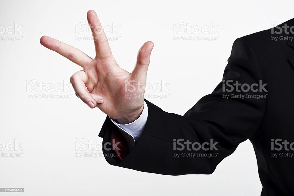 concept photo of finger's up sign number three royalty-free stock photo