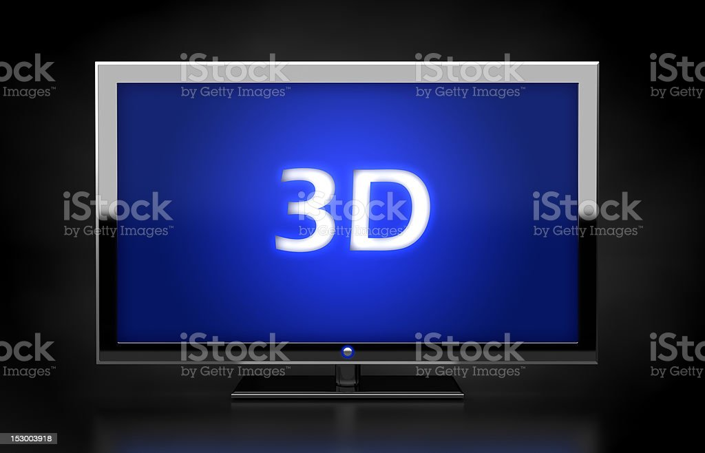 3D HD TV concept royalty-free stock photo