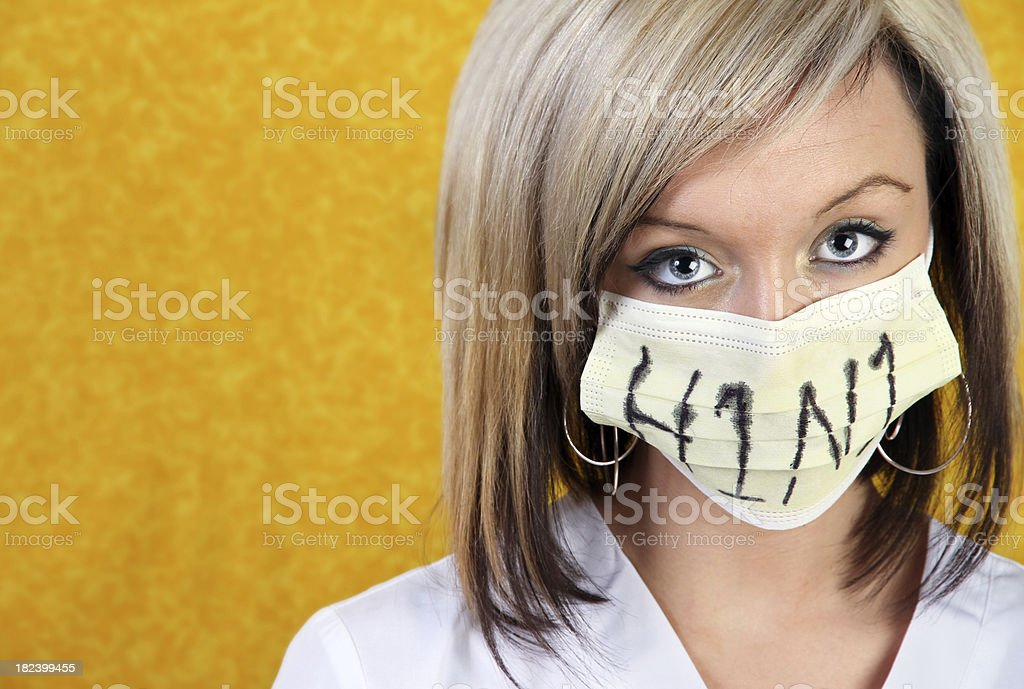 H1N1 concept stock photo