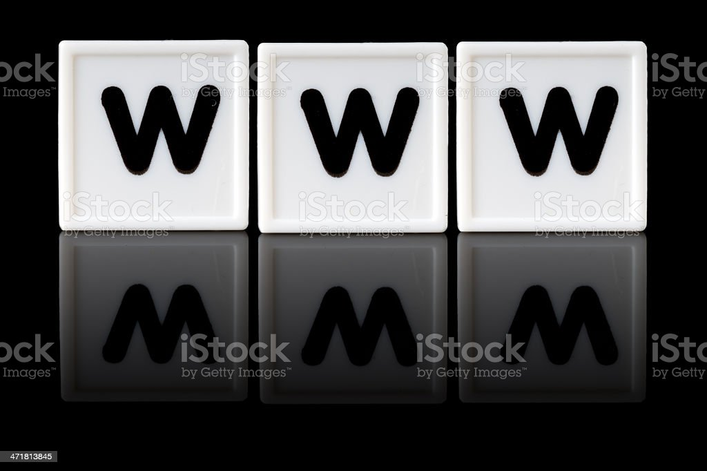 WWW Concept royalty-free stock photo