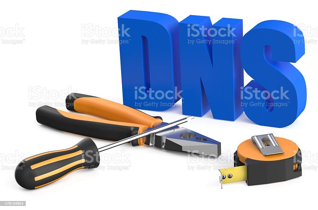 DNS concept stock photo