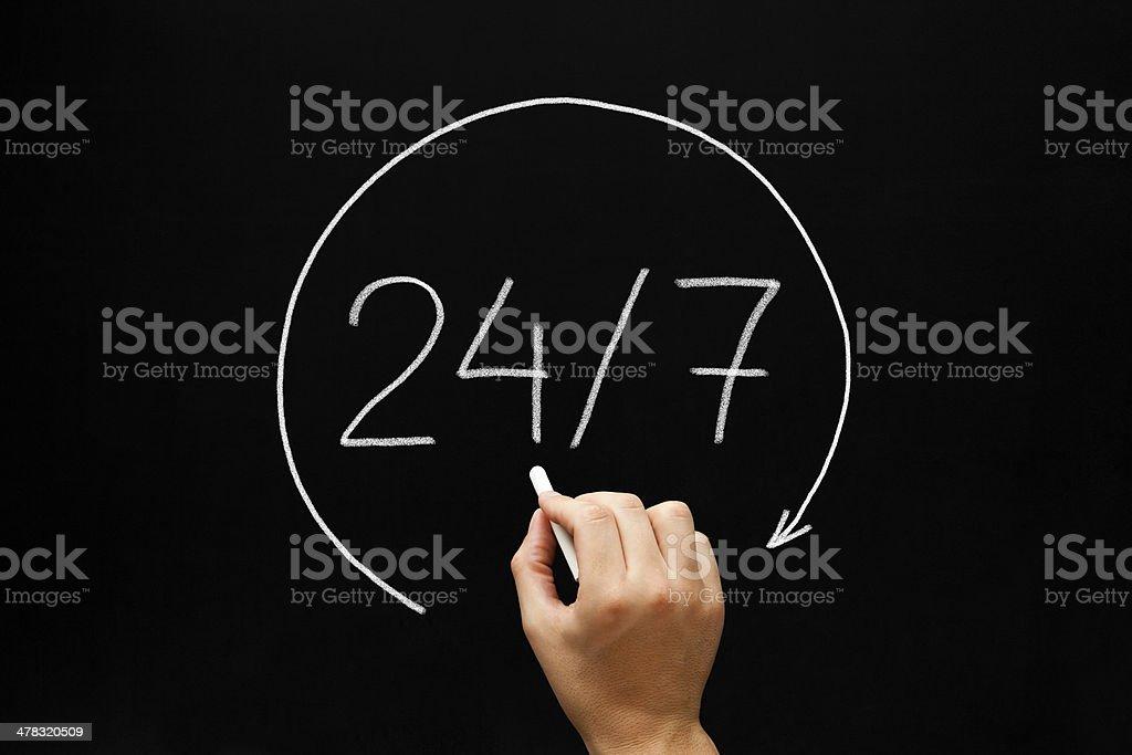 24-7 Concept stock photo