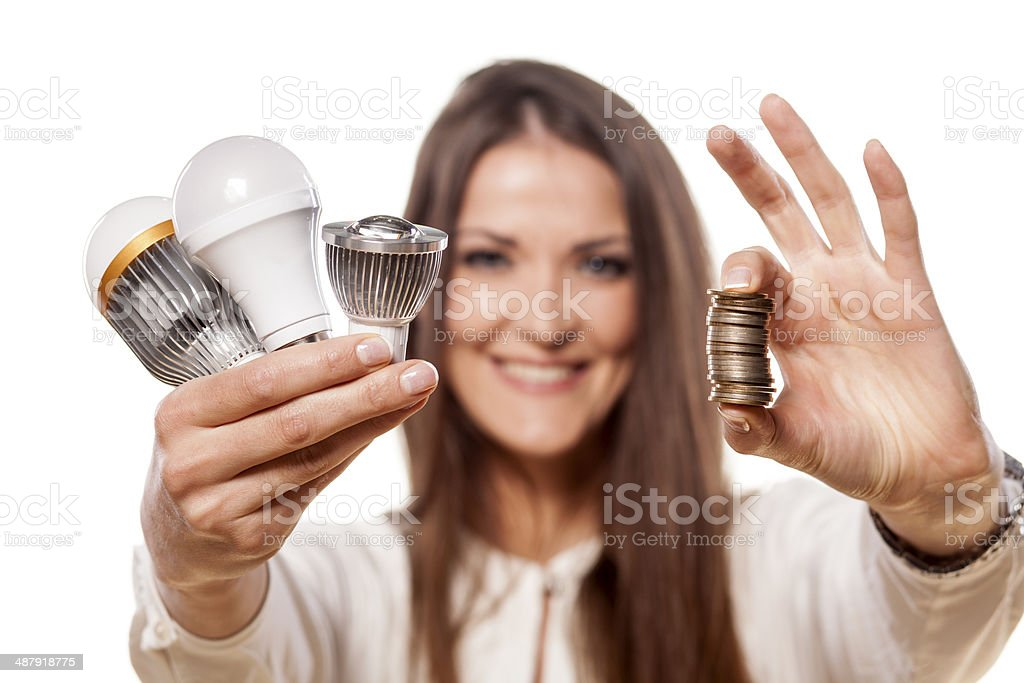 LED concept stock photo