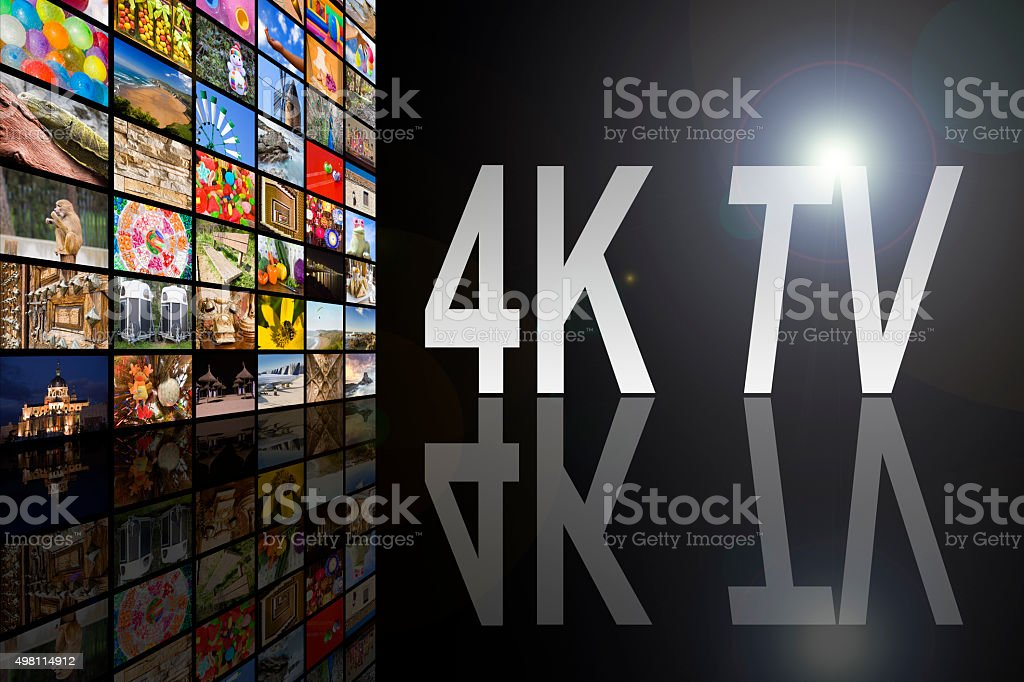 4K TV Concept stock photo