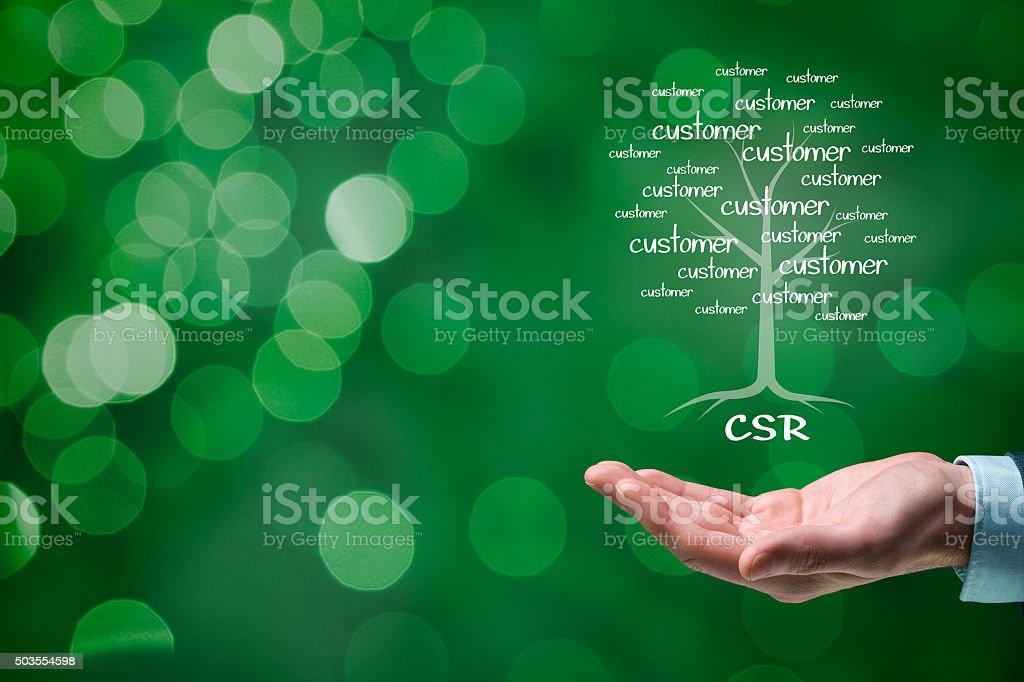 CSR concept stock photo
