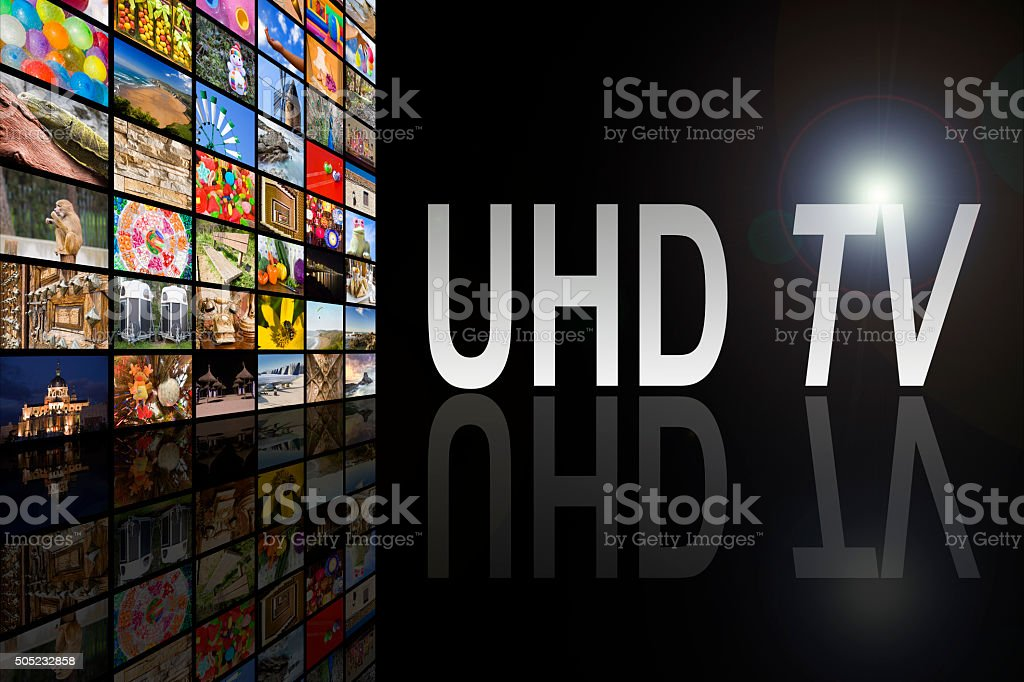 UHD TV Concept stock photo
