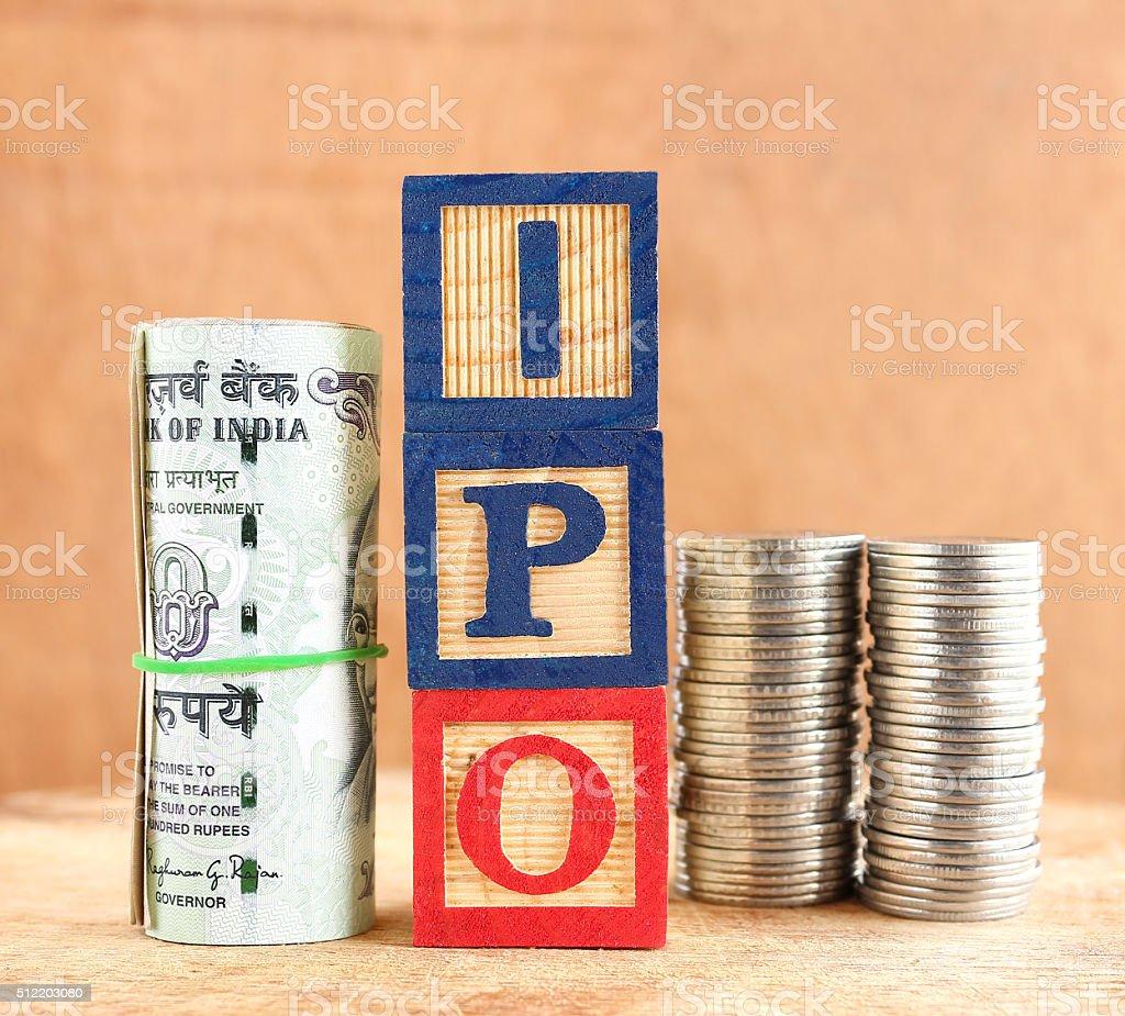 IPO Concept stock photo