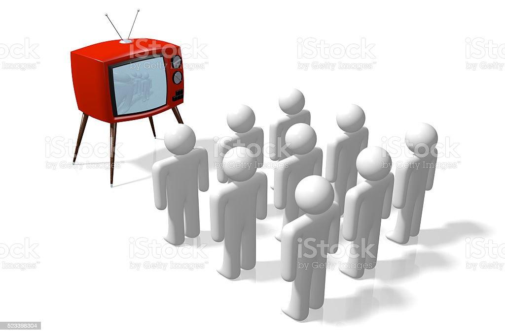 3D TV concept stock photo