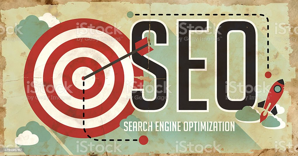 SEO Concept. Poster in Flat Design. stock photo