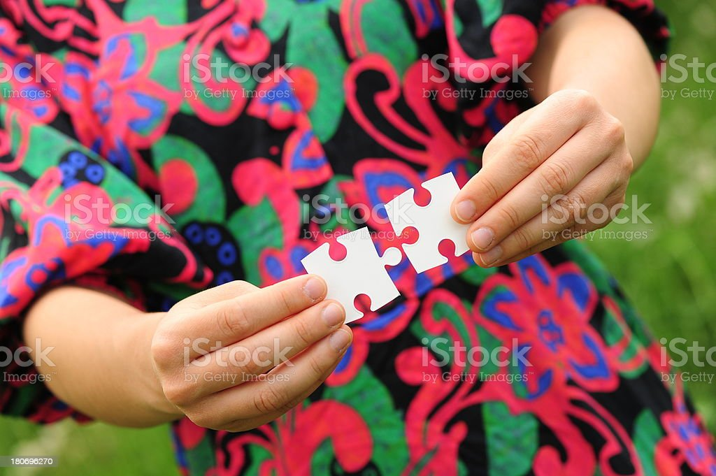 Concept Puzzle Works royalty-free stock photo