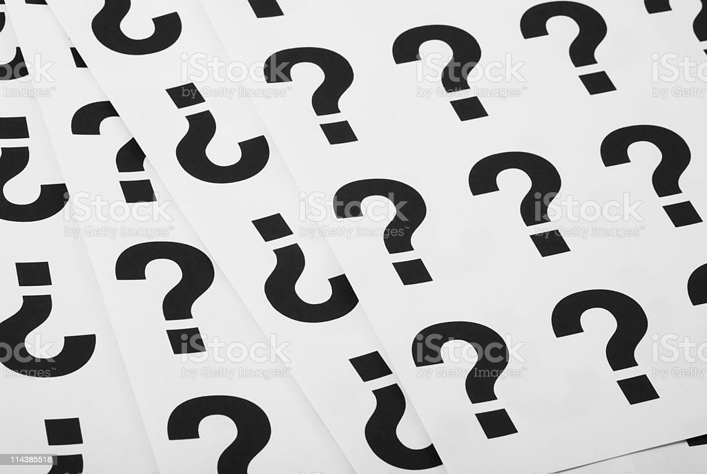 Concept questions royalty-free stock photo