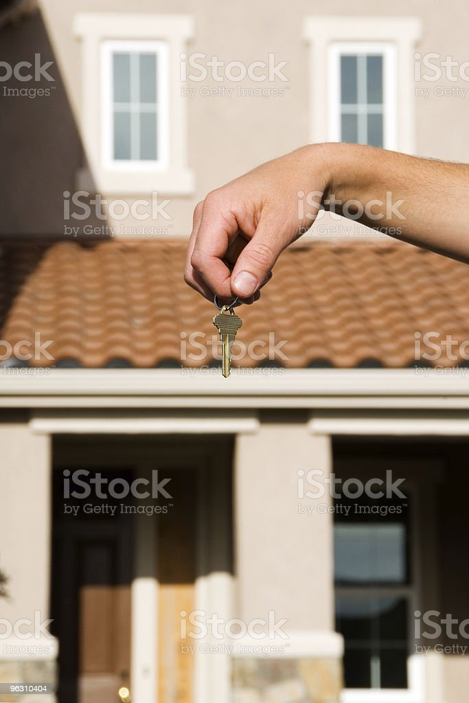 Concept - Real Estate: House and key royalty-free stock photo