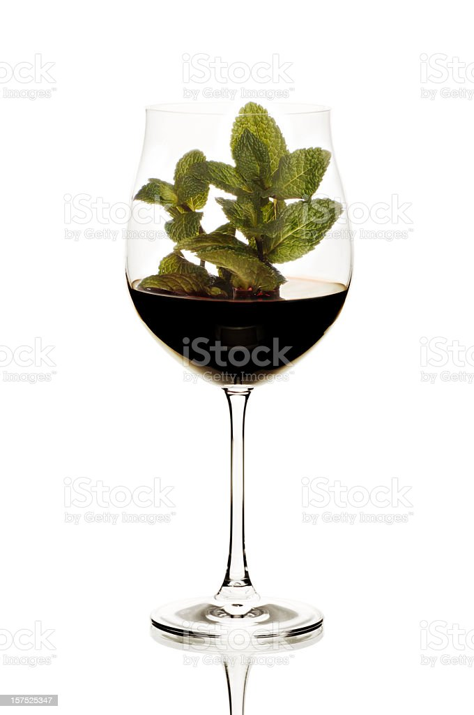 Concept red wine flavours - mint royalty-free stock photo