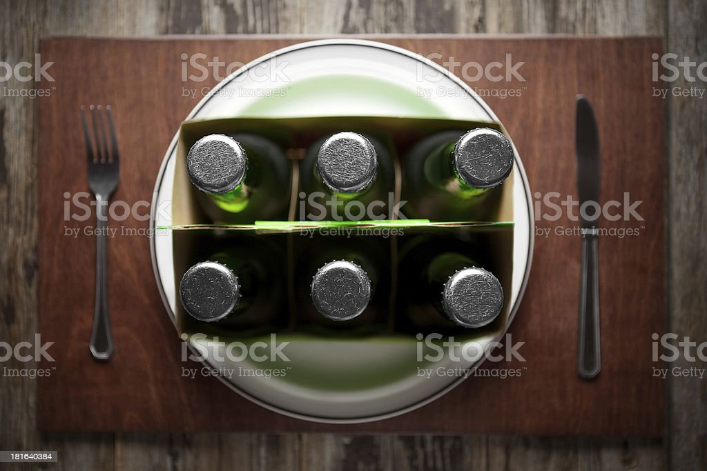 Concept representing Alcoholism on a funny way royalty-free stock photo