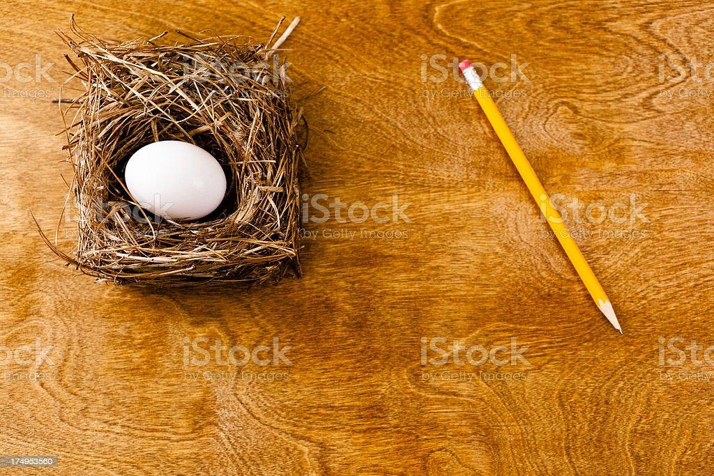 Concept Retirement Nest Egg royalty-free stock photo