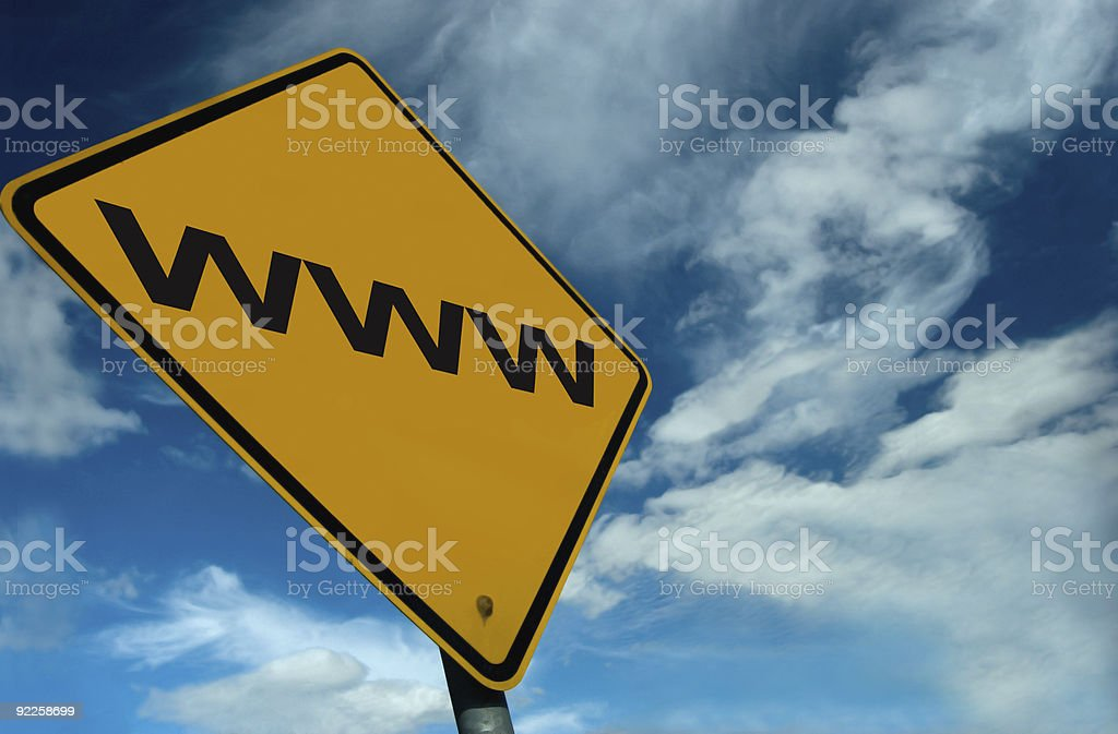 WWW Concept sign royalty-free stock photo