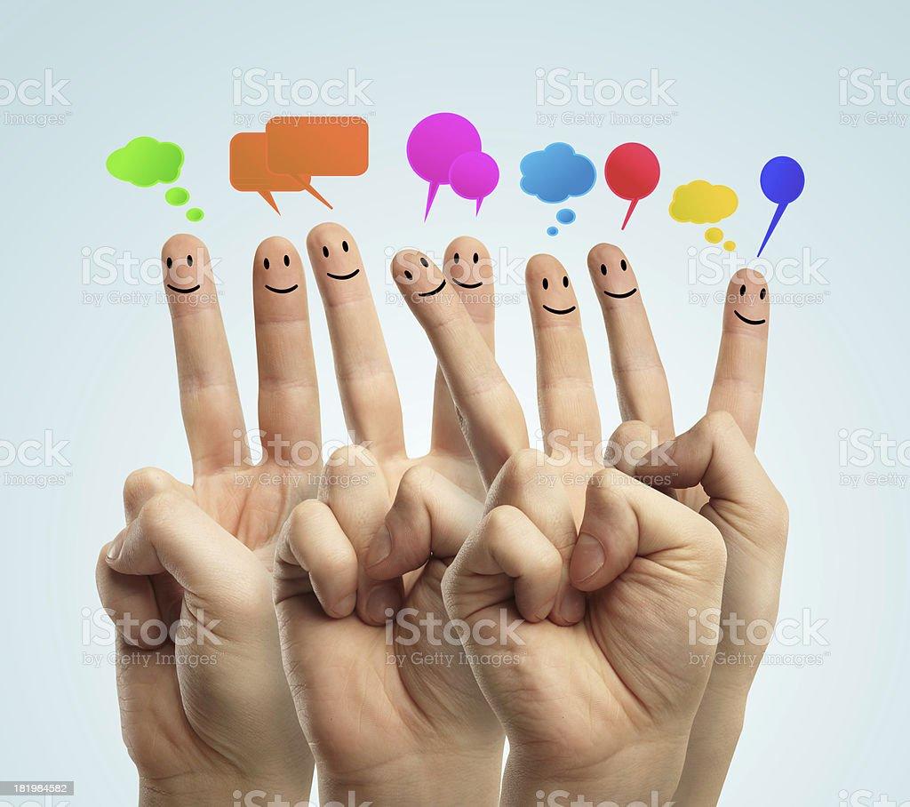 concept social network stock photo