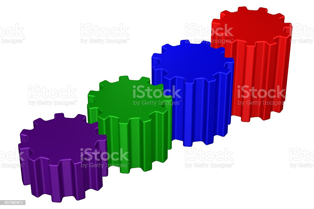 Concept: Success ladder stock photo