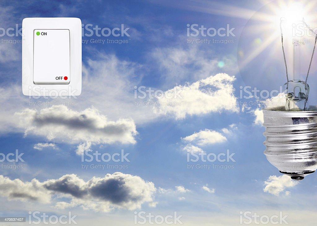 concept symbolizing the solar energy royalty-free stock photo