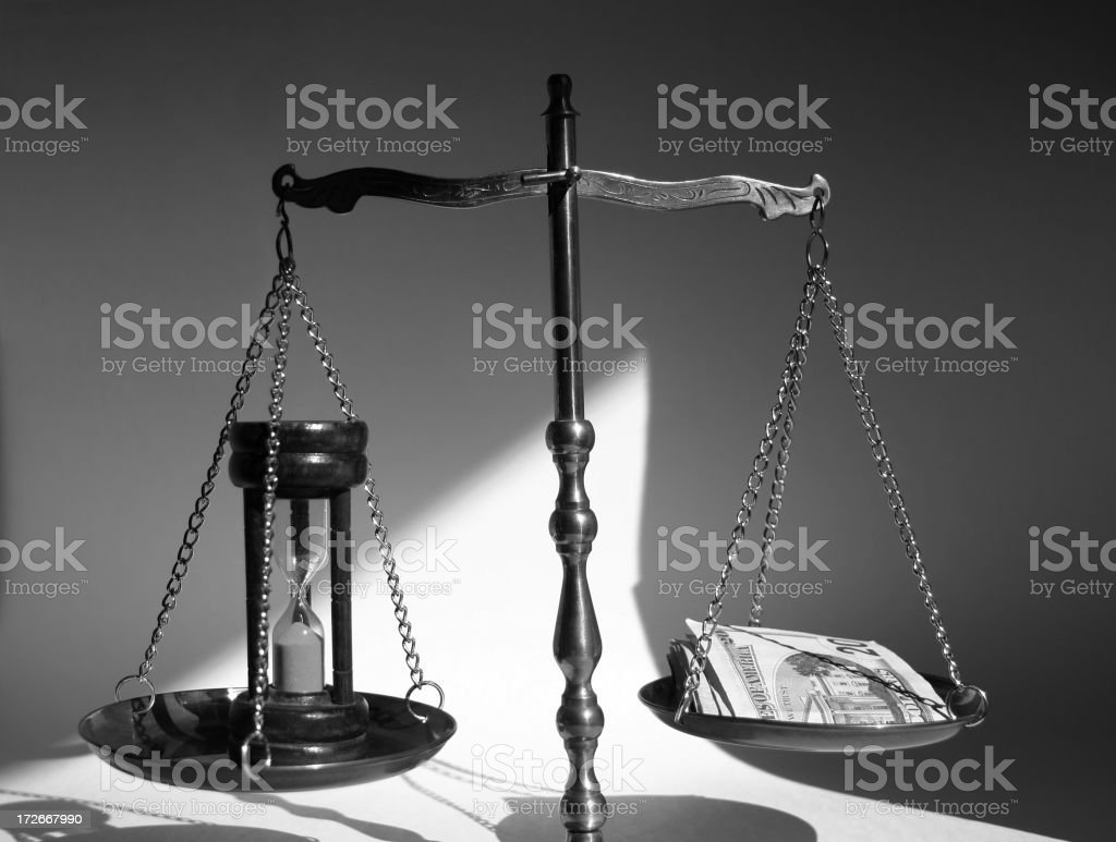 Concept: Time And Money royalty-free stock photo