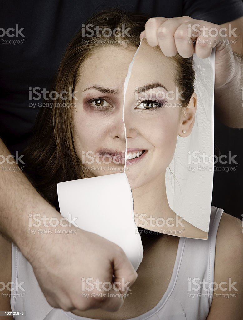 concept violence in family stock photo