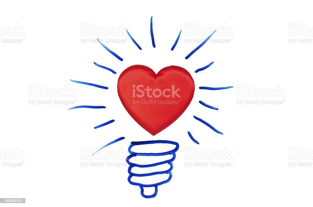 Concept with light bulb royalty-free stock photo